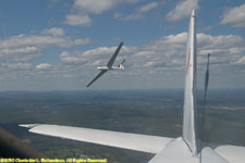 the new white L-23 is off and flying free on its maiden flight